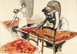 "Renato Gottuso "" La passata di pomodoro"" 1976"