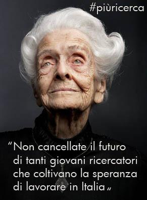 Rita Levi Montalcini, giovani