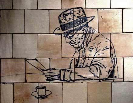 Murales Pessoa a Lisbona