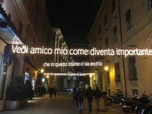 Bologna Dalla luminarie