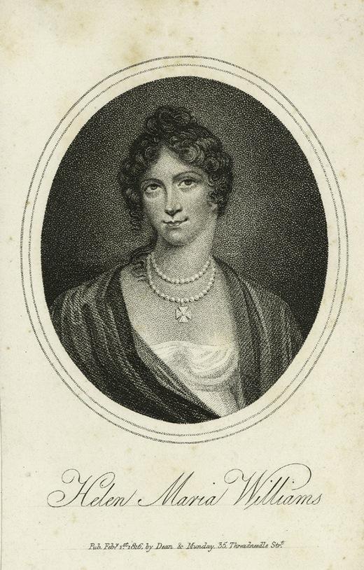 Helen Maria Williams – La regency woman dal cuore moderno Di Antonia Romagnoli